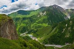 В горах Гудаури. Грузия