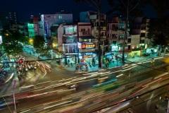 Улицы ночного Хошимина. Вьетнам