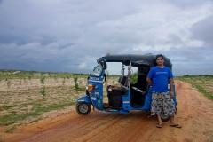 Водитель тук-тука по имени Сал. Аругам Бэй. Шри Ланка