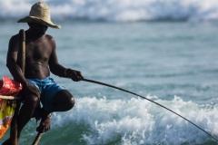 Традиционные рыбаки Шри Ланки.