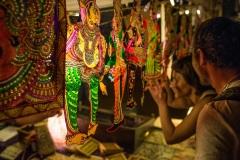 На ночном рынке в Гоа. Индия