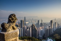 Вид на Гонконг с пика Виктория. Китай