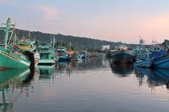Лодочный причал в городе Дуонг. Остров Фукуок. Вьетнам