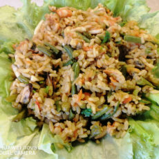 Жареный рис по-вьетнамски с морепродуктами.