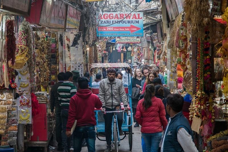 Чандни Чоук ( Chandni Chowk). Торговый район Дели.