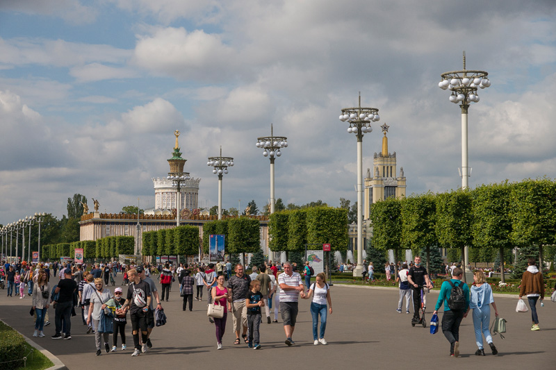 ВДНХ- выставка достижений народного хозяйства. Москва. Россия.