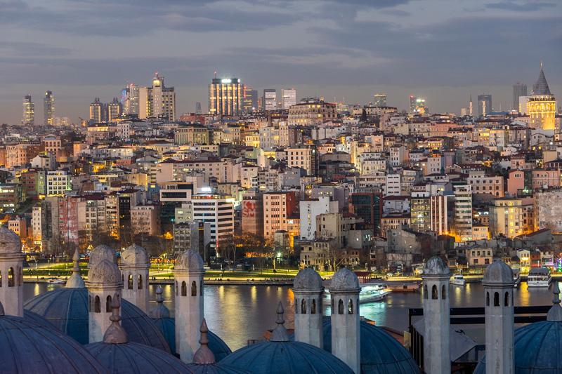 Турция. Стамбул. Прогулки по новогоднему городу.
